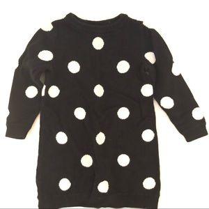 Old Navy Polka Dot Sweater Dress Black White 2T